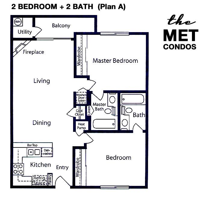 The Met Warner Center Floor Plan 2+2A